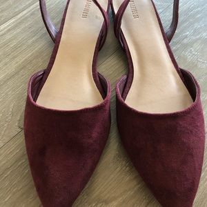 Forever 21 maroon flats- only worn once!